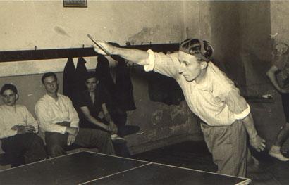 Fritz Dworatzyk beim Training 1949