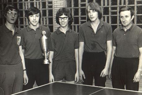 Die erfolgreiche Jugendmannschaft 1971