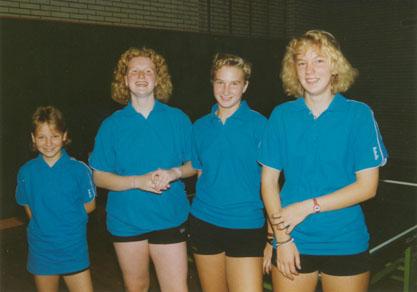 Teilnehmerinnen der Westdeutschen Mannschaftsmeisterschaften 1991